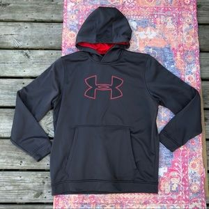 Under Armour grey cold gear pullover hoodie
